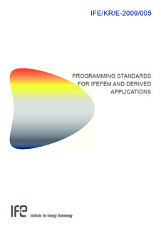 Programming standards for IfeFEM and derived applications